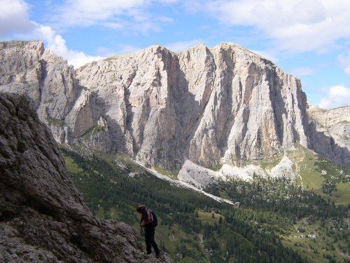 Vía ferrata Brigata Tridentina - Canazei (Dolomitas)