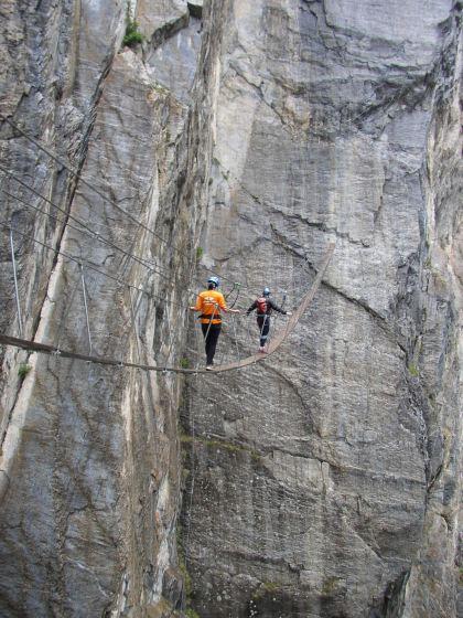 Vía Ferrata en Val d'Isere